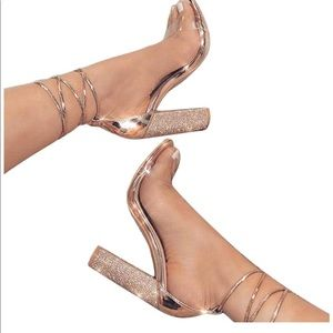 Shoes - Open toe strapped shoe